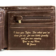 personalised wallet as a gift for husband
